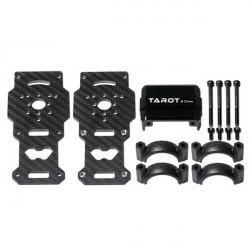 Tarot Φ25mm Svart Kolfiber Motor Mount Hållare Base för Muiticopter