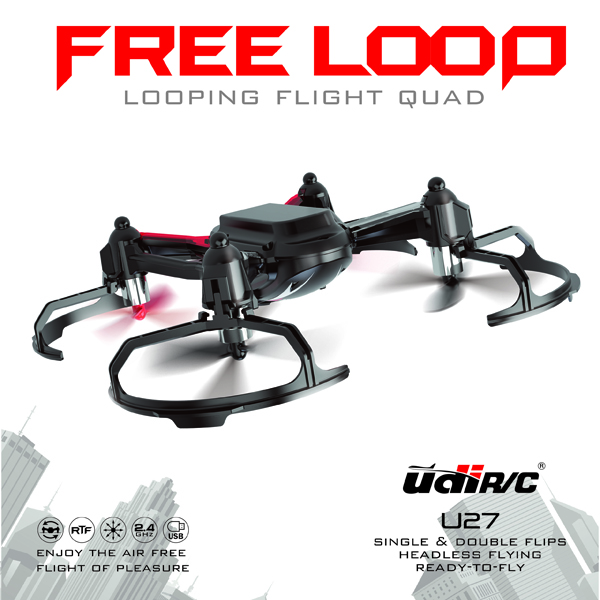 UDI U27 2.4G 4CH 6 Axis Looping Flight RC Quadcopter RTF RC Toys & Hobbies