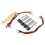 WLs V911 4 X 200mAh Original Batterier + 2 X Opladning Kabler Fjernstyret