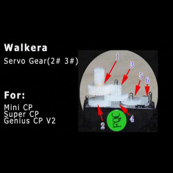Walkera Servo Gear # 2 # 3 for Mini CP / Super CP / Genius CP V2