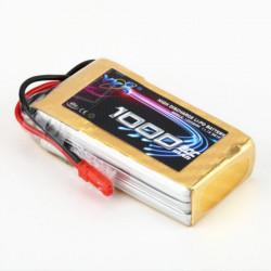 YKS BW136 11.1V 1000mAh 20C 3S JST Plug Li-Po Batteri för RC Modell