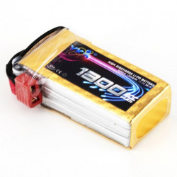 YKS BW140 11.1V 1300MAH 20C 3S T Plug Li-Po Battery For QAV 250