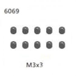 ZD Racing 9051 16421 V2 Parts 6069 M3 * 3 Stellschraube 10er