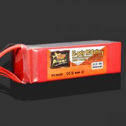 ZOP Power 22.2V 5000mAh 30C Lipo Batteri XT60 Plug
