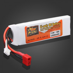 ZOP Power 7.4V 1500mAh 20C Lipo Battery T Plug