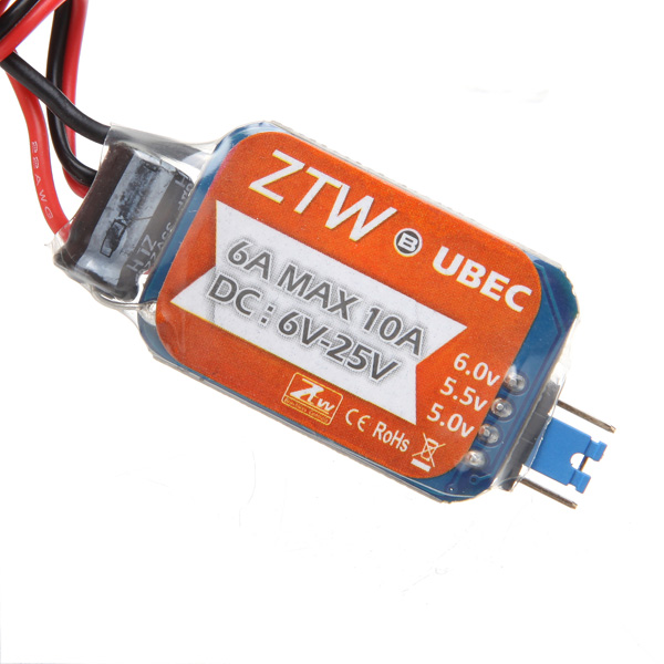 ZTW 6A Switch Mode Ultimate BEC / UBEC Radiostyrt