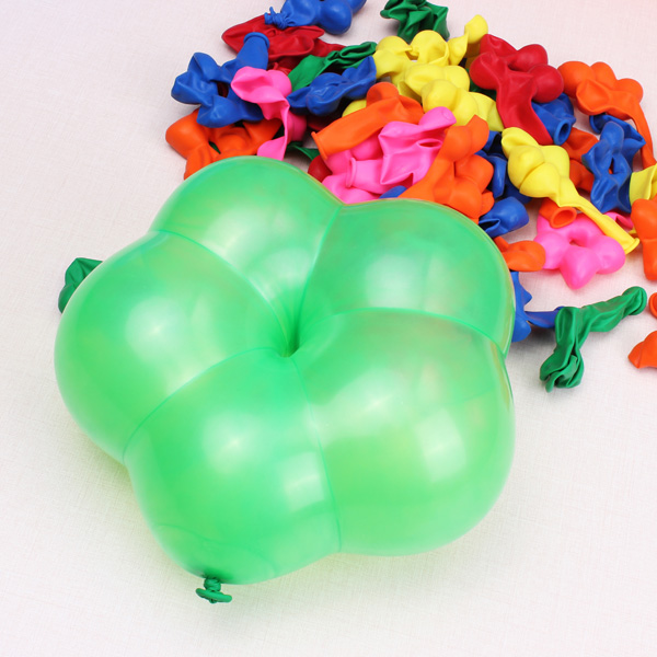 100stk Multi Color Blumen Form Latexballons Geburtstag Ballons Halloween / Maskerade