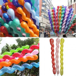 10PCS Helical Balloon Mix Colors Spiral Balloon Party Decoration