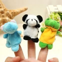 10st Puppet Finger Dockor & Gosedjur Cartoon Gift