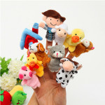 10 pc'er Familie Finger Puppets Cloth Doll Baby Educational Hand legetøj