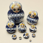 10Pcs Matryoshka Russian Doll Wooden Nesting Toys Engraved Model Kids Gift Dolls & Stuffed Toys