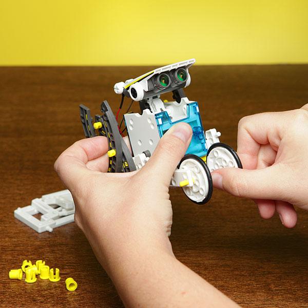 14 In 1 Solar Powered Robot Pattern Building Block Assembling DIY Solar Powered Toys