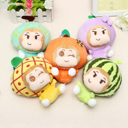 18CM Plush Cartoon Fruit Monkey Toy Stuffed Toy
