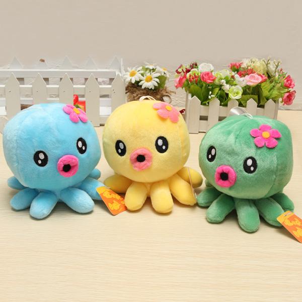 18cm Plush Legetøj Octopus Stuffed Soft Cartoon Doll Legetøj Dukker & Tøjdyr