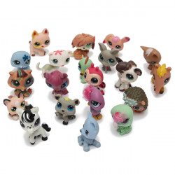 20st Littlest Pet Shop Katt Hund Djur Random Figurer Kids Leksak