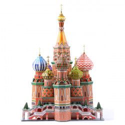 3D Jigsaw Puzzle ST. Basil's Cathedral Hardback DIY Model