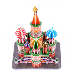 3D Paper Jigsaw Puzzle ST Basil's Cathedral DIY Model