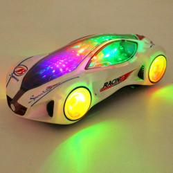 3D Super-bilar Elektrisk Leksak med Blinkande Wheel Lights