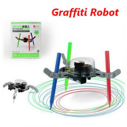 3 IN 1 Doodling Robot Graffiti Electrical Auto Drawing Machine DIY