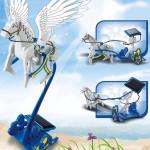 3 i 1 Pædagogisk DIY Solar Pegasus Chariot Legetøj Solcelle Legetøj