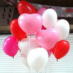 50stk Heart Shaped Latex Ballon Partei Feiertags Dekoration Ballon