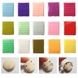 50g 15 Colors Polymer Clay Child Handwork Art Toy Block