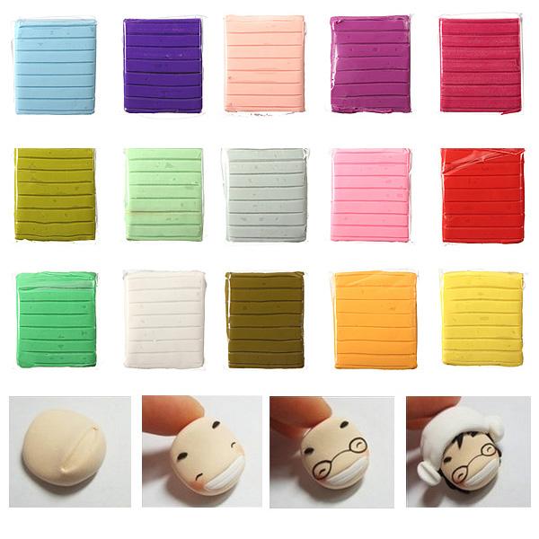 50g 15 Färger Polymer Lera Barnhandwork Konst Leksak Block Classic & Retro Leksaker
