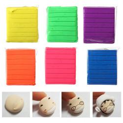 50g 6 Farben Fluoreszenz Polymer Clay Kinderhandarbeit Art Spielzeug Block