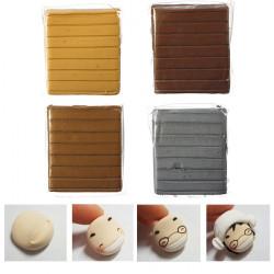 50g 6 Färger Metal Färg Polymer Lera Barnhandwork Konst Leksak Block