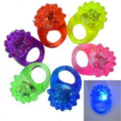5stk LED Blinkende Elastisk Gummi Blinker Strawberry Finger Ring