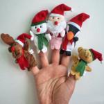 5st Jul Cartoon Puppet Finger Fyllda Leksaker Dockor & Gosedjur