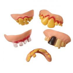 5stk Mix Style Sjov Ugly Fake Teeth Halloween Party Trick Prop