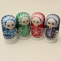6Pcs Matryoshka Russian Doll Nesting Toys kids colorful Model