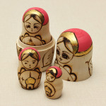 7Pcs Matryoshka Russian Doll Wooden Nesting Toys Engraved Delicate Gift Dolls & Stuffed Toys