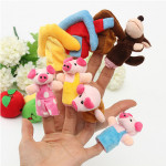 8 PCs Family Finger Puppets Cloth Soft Doll Baby Puzzle Hand Toy Dolls & Stuffed Toys