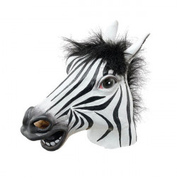 Voksen Zebra Hoved Latex Maske Passer Halloween Legetøj Party Fancy Dress