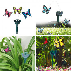 Beautiful DIY Creative Deformation Solar Power Butterfly Toy