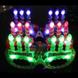 Födelsedag Candle Blinkande Glasögon Luminous Mask Födelsedagspresent