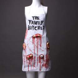 Bloody Lovely Apron The Family Butcher Halloween Prop