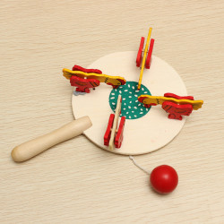 Chicken Eating Rice Crafts Wooden Toys Gifts Nostalgic Toys
