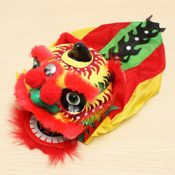 Chinese Traditional Dancing Lion Folk Handicraft Manual Control