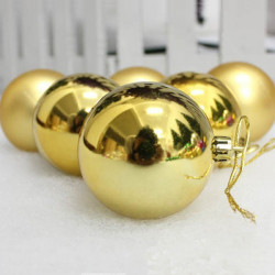 Christmas Baubles 3cm Golden 6 Pack Christmas Decoration Ornament