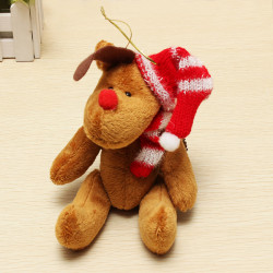 Julen Elk Plush Fabric Doll Christmas Tree Dekoration Pynt