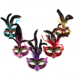 Colorful Feather Masquerade Party Eye Mask Halloween Eye Mask