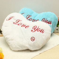 Colorful LED Flash Romantic Heart Luminous Plush Stuffed Toys