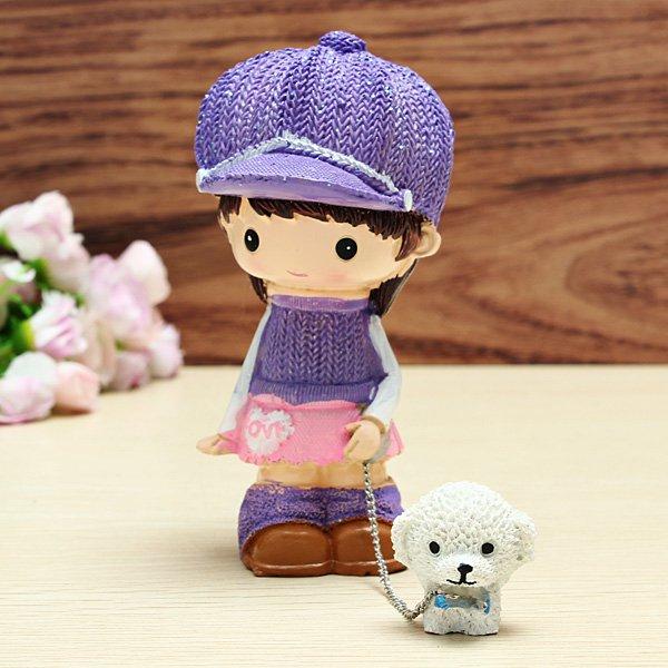Paar Walking the Dog Gift Pullover Kleid Hund Crafts Puppen & Kuscheltiere