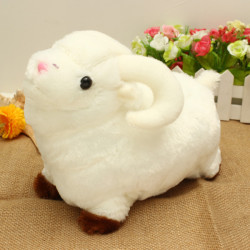 Cute White Little Sheep Plush Doll Kid Stuffed Toy Gift