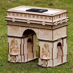 DIY 3D Solar Puzzle Wooden Toys Educational Assemble Toys Triumphal Arch