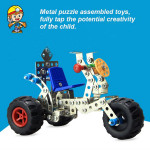 DIY Alloy Assembled Model Toys Simulation Tricycle Toys Model