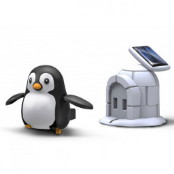 DIY House Penguin Solar Rechargeable Solar Power Toy